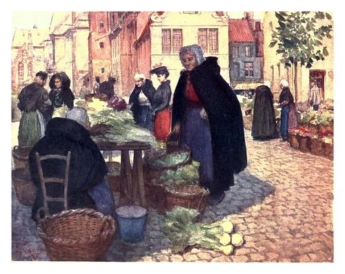 011-Mercado de verduras en Brujas-Belgium 1908- Amédée Forestier