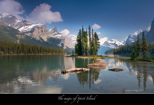 "Spirit Island Legend-My other love affair-Jasper National Park by Joalhi ""Around the World"""