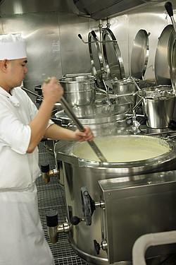 making sauce