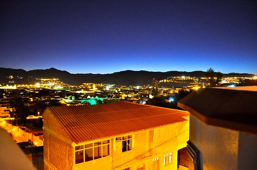 night view Sucre