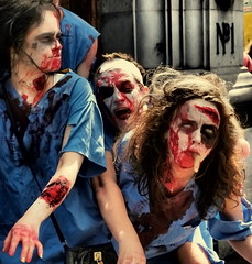 MEDICAL ZOMBIES (Damien Sass) Tags: street dublin mouth march three costume zombie walk finger parade medical gore annual dawson 2011