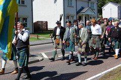 Clan MacLaren chief in parade - Lochearnhead Games 23 July, 2011