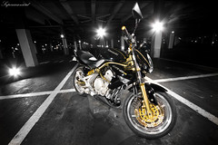 ER-6n (Vincent.B Photography) Tags: 6 bike night honda painting photography er 10 5 sony parking flash vincent n sigma triumph moto 20 alpha dslr ducati 1020 kawasaki 550 sportive er6n vincentb a550 supercarsonroad
