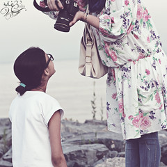 6th day.. ( غ ــآلـيـۃ) Tags: sea picnic cottoncandy noora wideangellens ymmybarbq