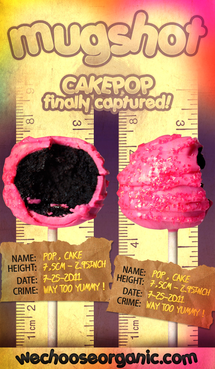mug shot of cake pop