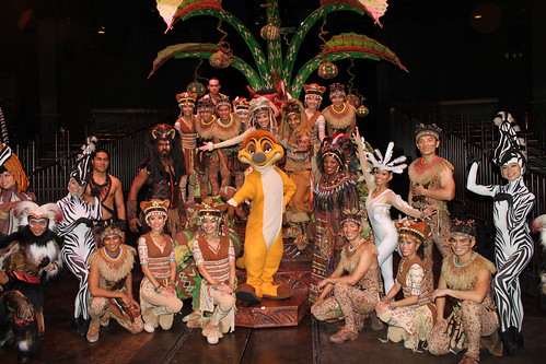 Meeting the cast of Festival of the Lion King