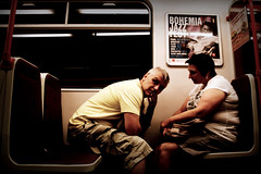 Praa (Sputo) Tags: woman man donna prague metro praga uomo metropolitana praa