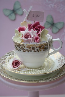 Pretty teacups by Cotton and Crumbs