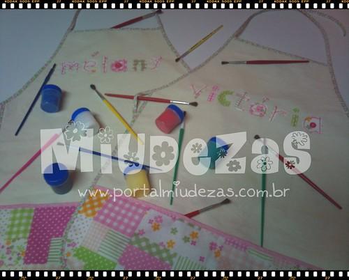 Avental de Artes Personalizado by MIUDEZAS by miudezas_miudezas