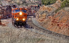 BNSF 7321 East 2 (ChasingSteel.com) Tags: railroad arizona train bnsf intermodal 7321 7247 4991 7535 gees44dc transcon gedash944cw seligmansubdivision chasingsteelcom westdoublea