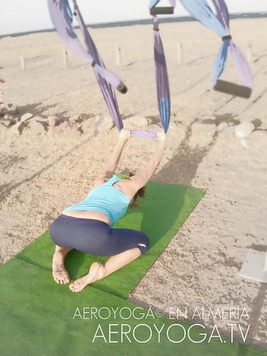 Practica Aero Yoga© en la Playa, Almeria