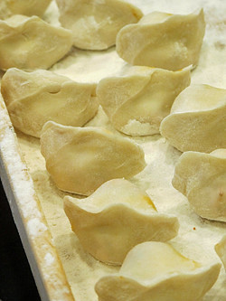 uncooked korean dumplings