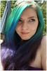 Ocean Gradient (rainbow-hair) Tags: ocean blue green hairdye cool purple gradient purplehaze manicpanic shockingblue electriclizard atomicturquoise