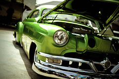 Chiefton (Garret Voight) Tags: show old hot classic car minnesota vintage fairgrounds automobile bokeh retro chrome american rod modified pontiac custom saintpaul sled lowered steet chiefton backtothe50s