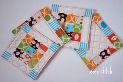 patchwork coaster (coco stitch) Tags: kitchen quilt fabric patchwork coaster