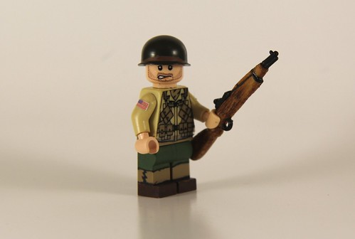 Custom minifig WWII US D-Day Ranger