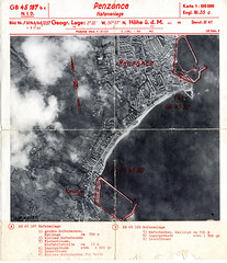 Penzance and Newlyn harbours (Plymouth History) Tags: cornwall map aircraft nazi plymouth aerial devon photograph german target bomb blitz bombing reich devonport secondworldwar stonehouse luftwaffe plymstock saltash torpoint