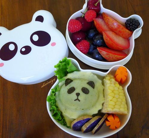 Panda Ravioli Bento by sherimiya ♥