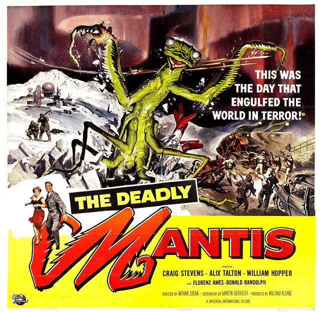 Reynold Brown - The Deadly Mantis (Universal International, 1957) window card