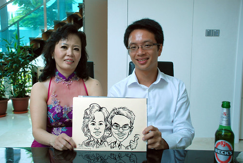 caricature live sketching for wedding solemnisation - 9