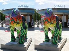 3D Bristol gorilla boy (3D shoot) Tags: bristol stereoscopic stereophoto stereophotography 3d gorilla stereo parallel stereoscope atbristol parallelview 3dshoot bristolgorilla bristolgorillas