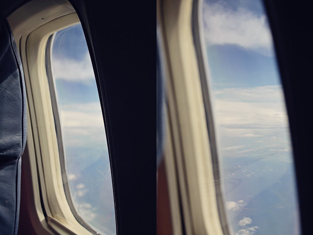 airplane window diptych