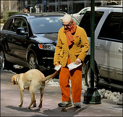 cleaning.. (Brazilero) Tags: nyc dog man feces