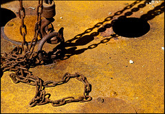 chains (sulamith.sallmann) Tags: abstract detail metal chains frankreich rust rusty chain normandie rost metall fra rostig abstrakt ausschnitt kette haken verschluss ketten metallisch sulamithsallmann verschlsse regnvillesurmer
