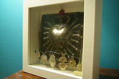 heart milagros (jenfarina) Tags: heart handmade icon shadowbox votive milagro spiriticon