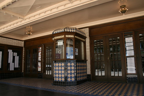 paramount theater ticket booth and entrance
