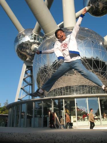 Brussels, Belgium - Jumping shot