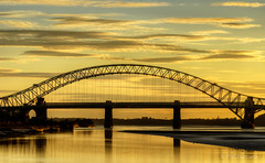 Runcorn Bridge (Phil Burness2010) Tags: bridge sunset runcorn runcornbridge
