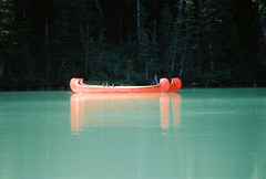 Canoe in Lake Louise