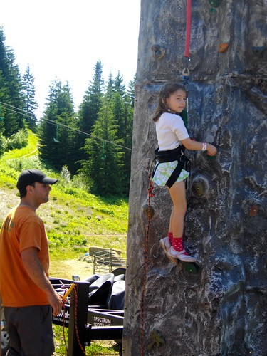 Madeline rock climbing