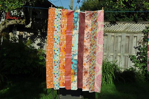 TATW 2: Sew strips into strata