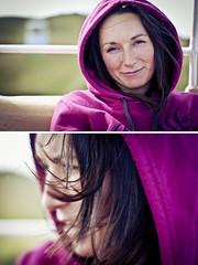 215/365 (Laurence Crossman-Emms) Tags: portrait girl hoodie purple great llandudno orme