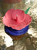 Hibiscus flower cupcake (Dreamy Delights) Tags: flower cake hawaii cupcake hibiscus luau hawaiian fondant