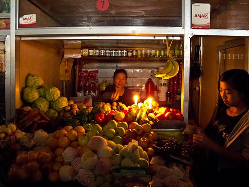 Tsetserleg market during blackout