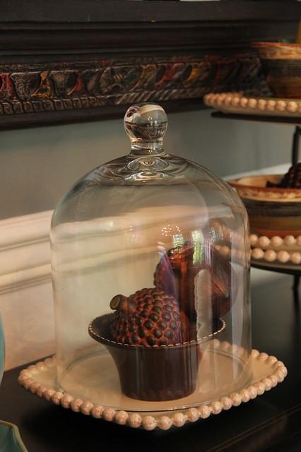 biltmore inspirations acorns under cloche