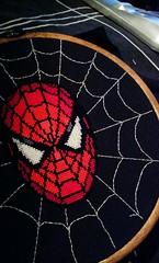 Spiderman (stitchFIGHT) Tags: crossstitch embroidery spiderman marvel xstitch