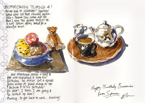 110808 Borromini's 4th birthday by borromini bear