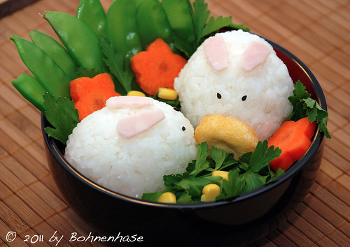Bento #3: Bunny Bento / Usagi Charaben / うさぎのお弁当 by Bohnenhase