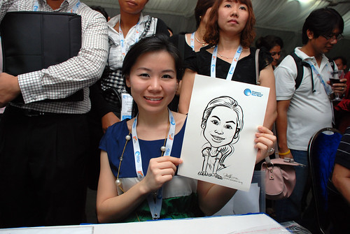 caricature live sketching for Singapore International Water Week Closing Dinner - 26