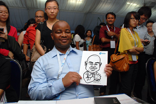 caricature live sketching for Singapore International Water Week Closing Dinner - 11