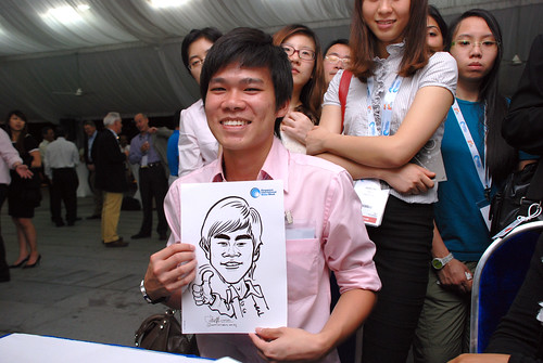 caricature live sketching for Singapore International Water Week Closing Dinner - 30
