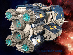Ticonderoga3 (I Scream Clone) Tags: ship lego space scifi ticonderoga dreadnought vexillum