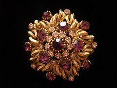 Vintage Purple Stoned Brooch (Bracelets To Buckles) Tags: vintage purple stones brooch
