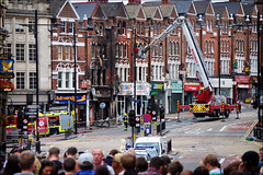 London Riots, Clapham Junction (George Rex) Tags: uk greatbritain england london unitedkingdom britain gb firemen battersea firedepartment wandsworth claphamjunction ccbysa lavenderhill londonboroughofwandsworth falconroad firetenders londonriots grxa23 photographygeorgerex
