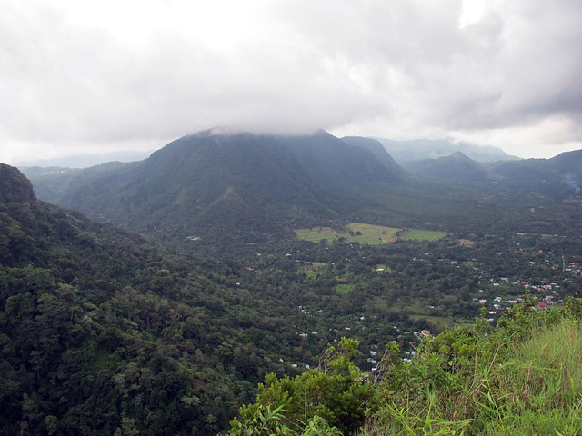 looking down to El Valle de Antón