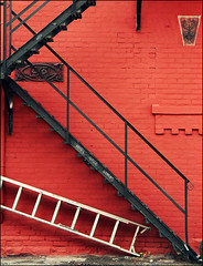 Scale.... (rogilde - roberto la forgia) Tags: travel light red vacation italy usa toronto black scale stairs america canon italia americans luci littleitaly colori luce italians vocation flickraward mygearandme ringexcellence